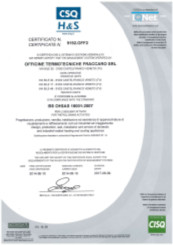 Certificato OHSAS 18001 N1