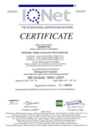 Certificato OHSAS 18001 N2