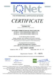 Certificato IQNET aggiornamento