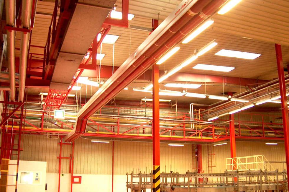 Alternativa al riscaldamento tradizionale di grandi ambienti tramite l'installazione di nastri radianti girad fraccaro