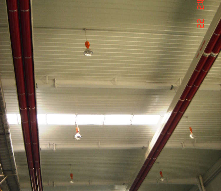 Dettaglio nastro radiante girad installato nello stabilimento Inner Mongolia Sunnergy