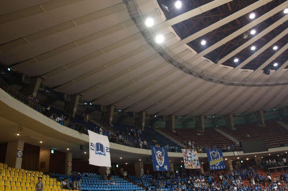 Dettaglio waterstrip installati nello stadio Jamsil in Corea