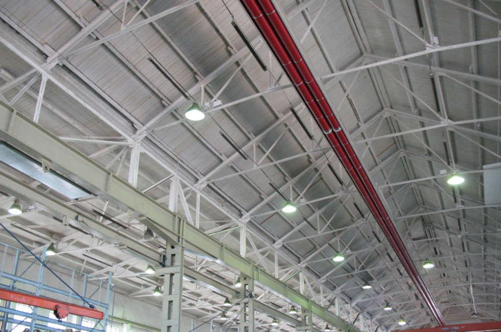 Nastro radiante girad Fraccaro installato nello stabilimento GMC Stavanger in Norvegia