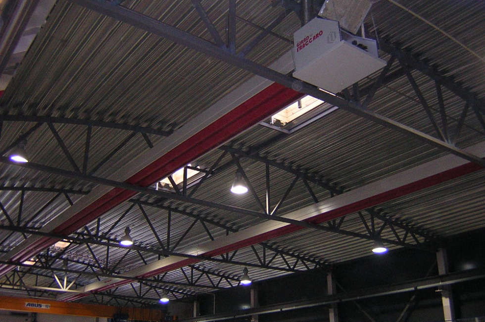 Nastro radiante girad installato nel capannone della ditta norvegese RPT