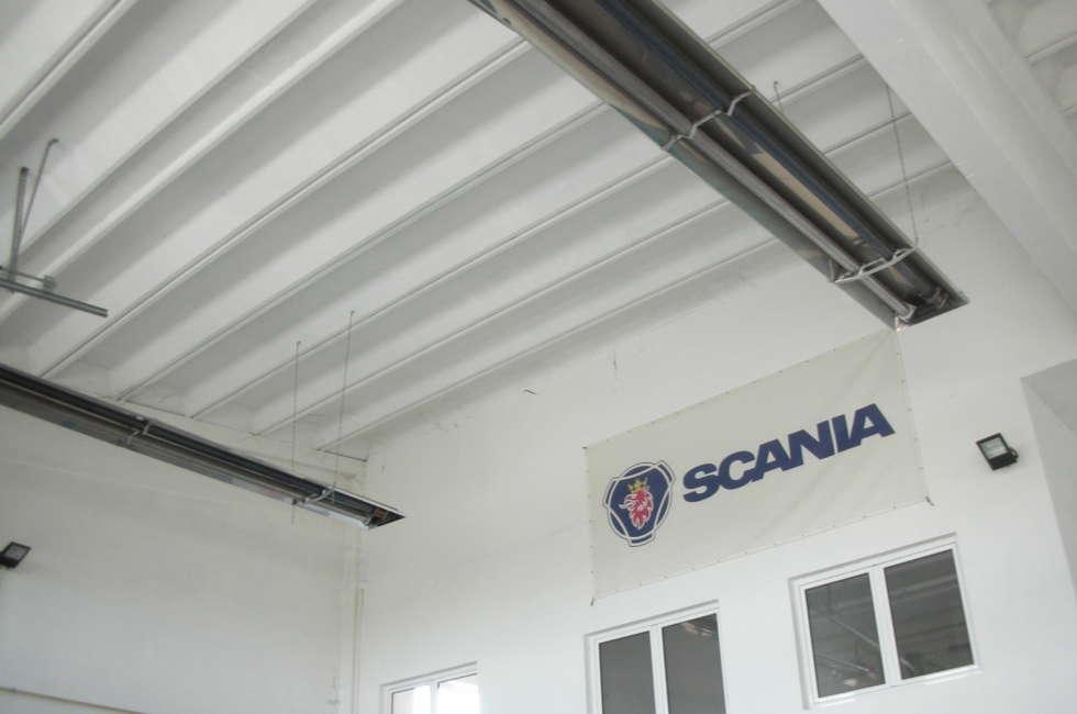 Riscaldamento a soffitto per capannoni tramite tubi radianti Fraccaro