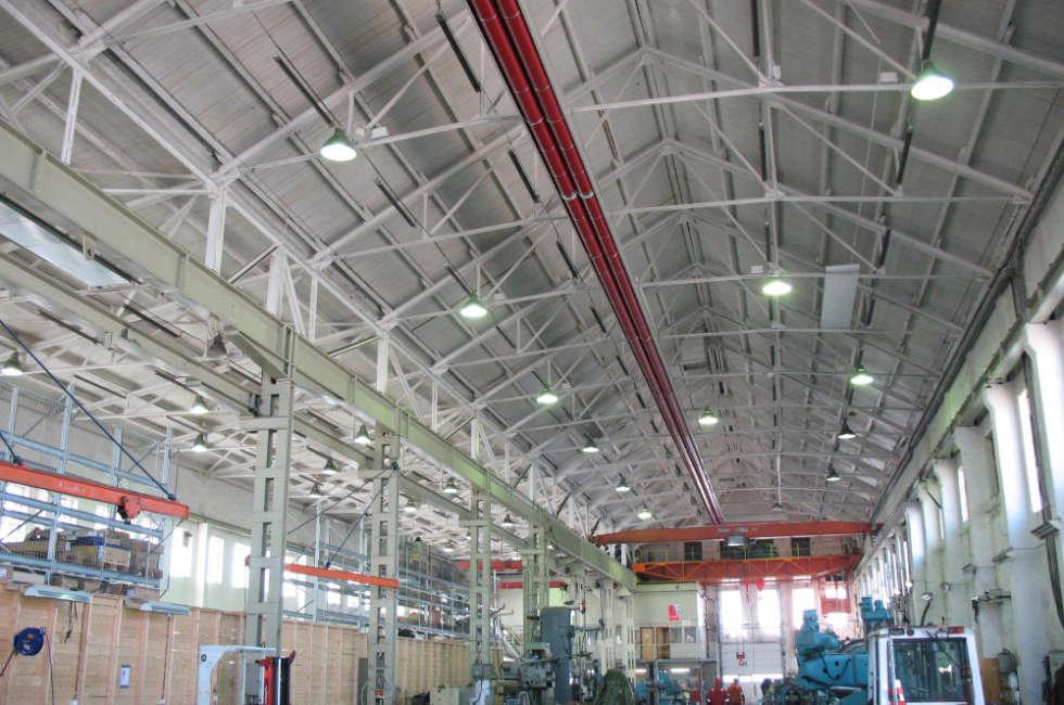 Riscaldamento industriale a nastri radianti a soffitto girad Fraccaro