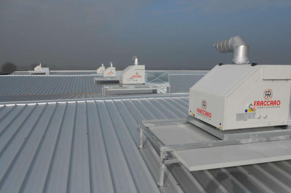 Riscaldamento industriale radiante per grandi ambienti Fraccaro