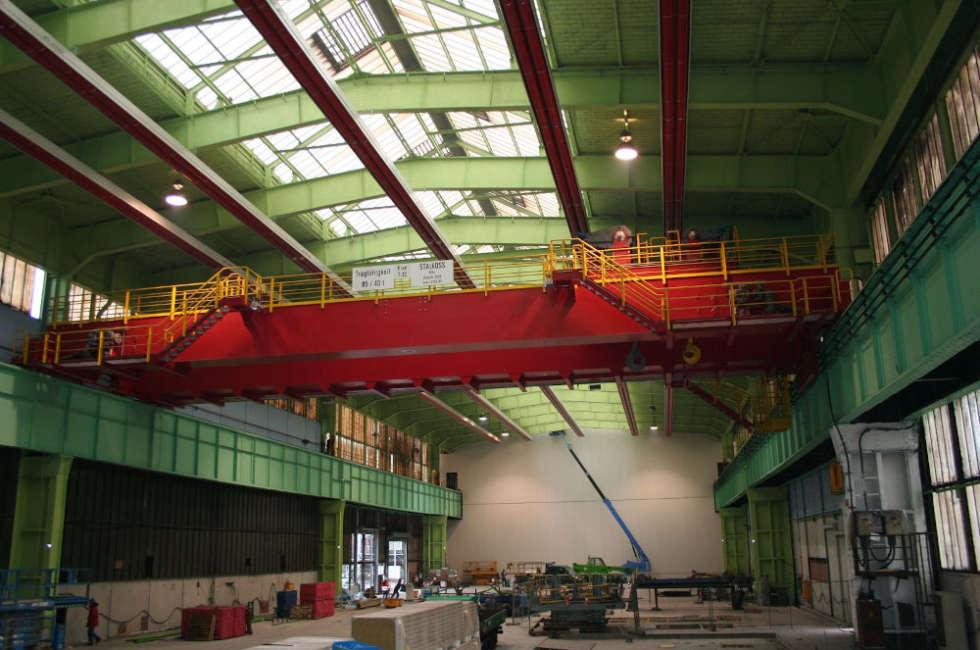 Thyssenkrupp capannone in Germania riscaldato con nastri radianti Fraccaro