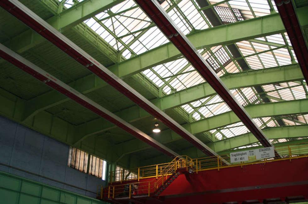 riscaldamento a nastri radianti girad Fraccaro per capannoni industriali