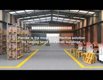 Panrad radiant tubes for industrial heating